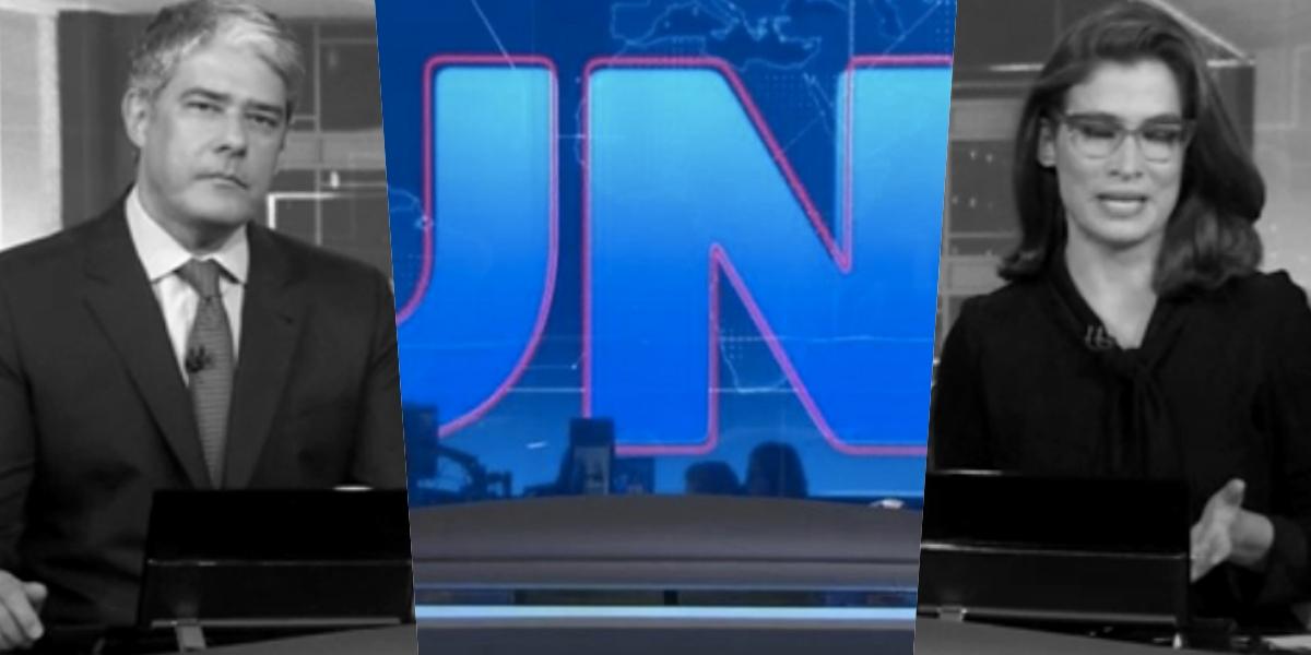 William Bonner e Renata Vasconcellos comandam o Jornal Nacional (Foto: reprodução/Globo)