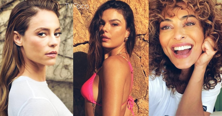 Fotomontagem de Juliana Paes, Paolla Oliveira e Isis Valverde são o foco de A Força do Querer