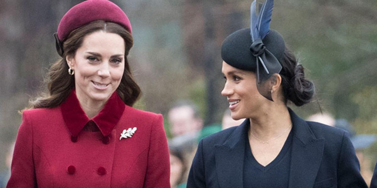 Kate Middleton e Meghan Markle (Foto: Reprodução)