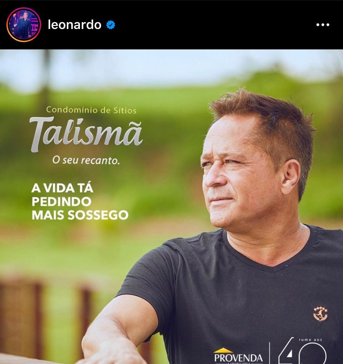 Leonardo em anúncio de condomínio (Foto: Reprodução)