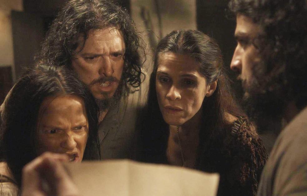 Germana, Licurgo e Elvira ficam em choque na trama de Novo Mundo