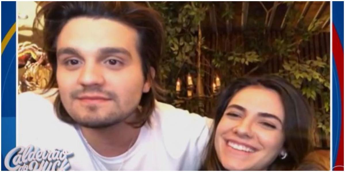 O cantor Luan Santana e Jade Magalhães no Caldeirão do Huck - Foto: Reprodução
