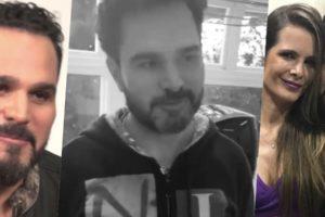 Luciano Camargo foi exposto por Nathan em um vídeo (Foto: montagem)