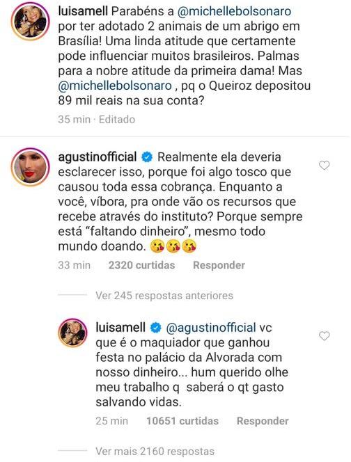 Luisa Mell responde maquiador (Foto: Reprodução/Instagram)