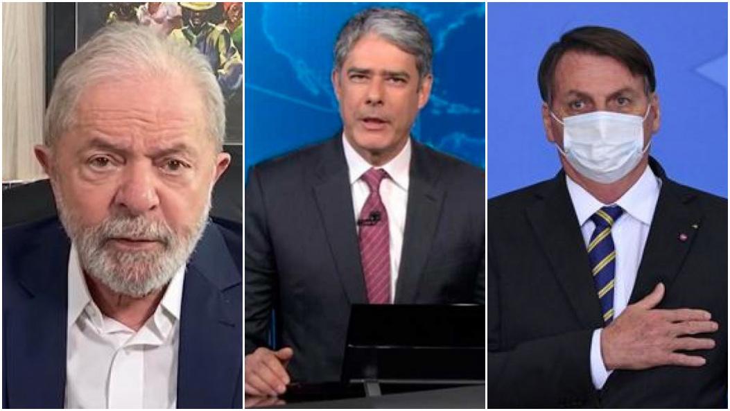 O ex-presidente Lula se uniu a Bolsonaro contra Bonner e a Globo - Foto: Montagem