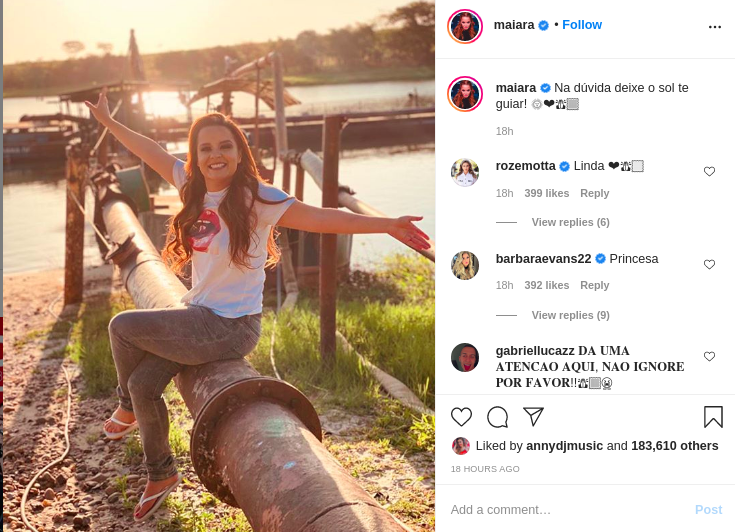 Maiara, da dupla com Maraisa, encantou ao publicar essa foto em suas redes sociais (Foto: Reprodução/ Instagram)