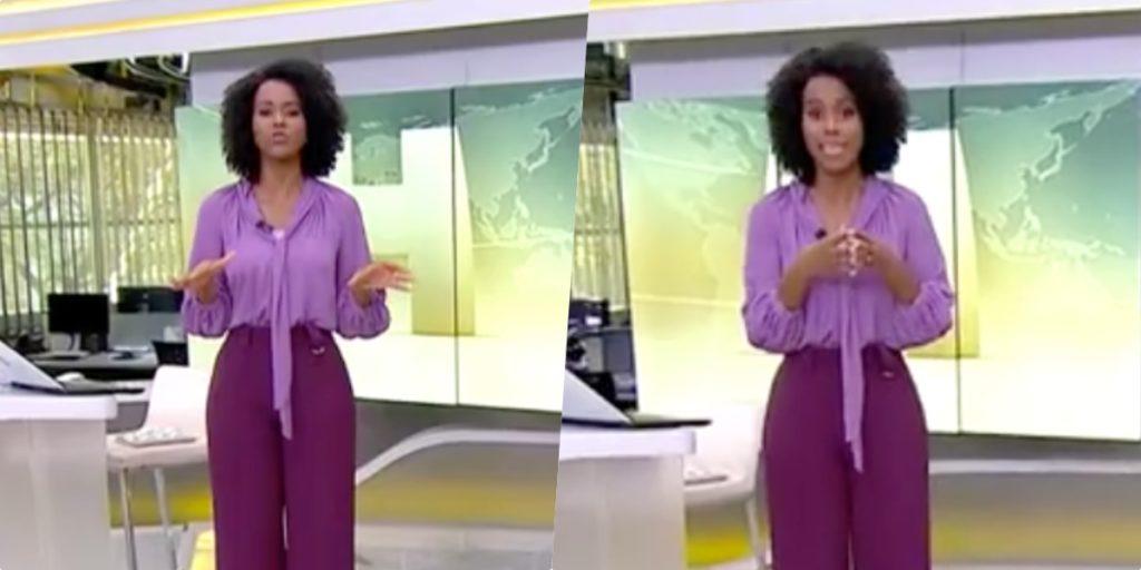Maju abriu telejornal às pressas trazendo informações bombásticas (Foto montagem)