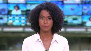 A jornalista Maju Coutinho surpreendeu na Globo - Foto: Reprodução