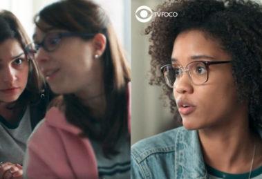 Fotomontagem de Keyla, Benê e Ellen de Malhação Viva a Diferença
