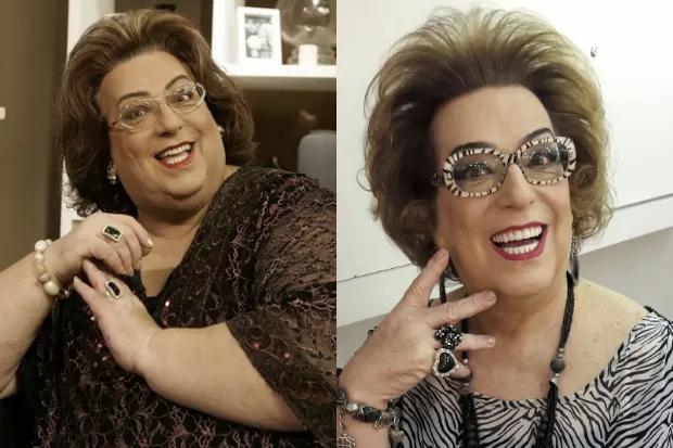 Mamma Bruschetta emagreceu por conta do câncer no esôfago (Foto: montagem)