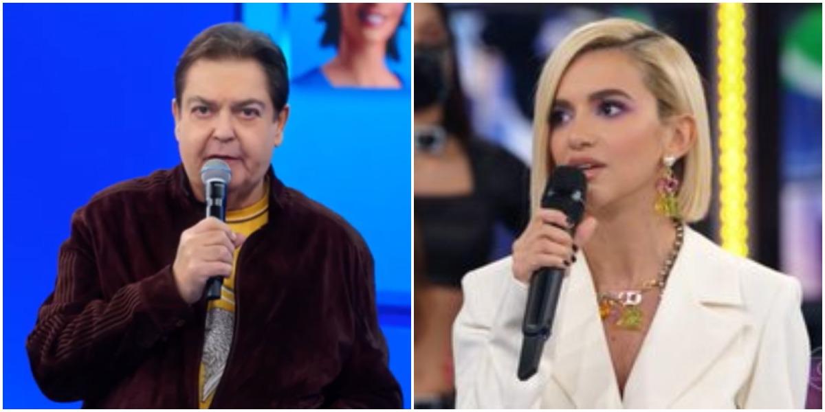 """O apresentado Faustão """"quebrou a cara"""" de Manu Gavassi neste domingo - Foto: Montagem"""