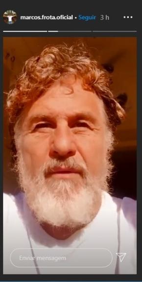 Marcos Frota surge barbudo e grisalho (Foto: Reprodução)
