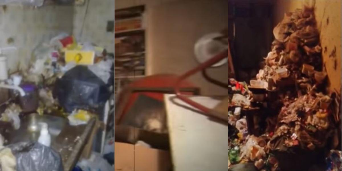 Marina Miranda se tornou uma acumuladora compulsiva (Foto: Reprodução/Record)