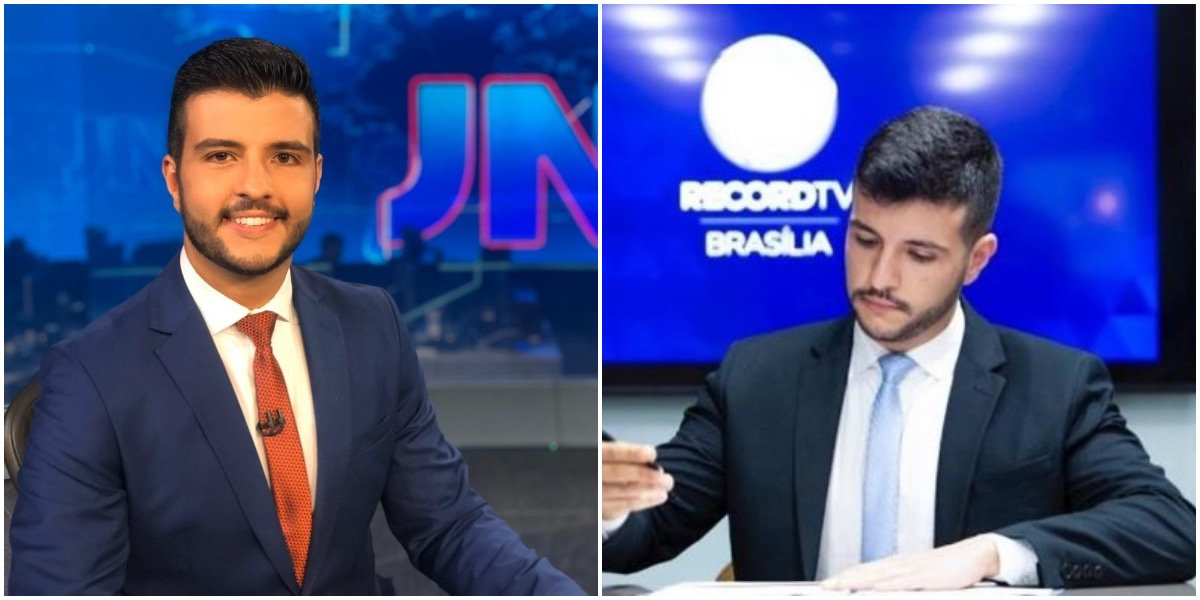 Matheus Ribeiro, ex-âncora do Jornal Nacional e agora jornalista da Record - Foto: Montagem