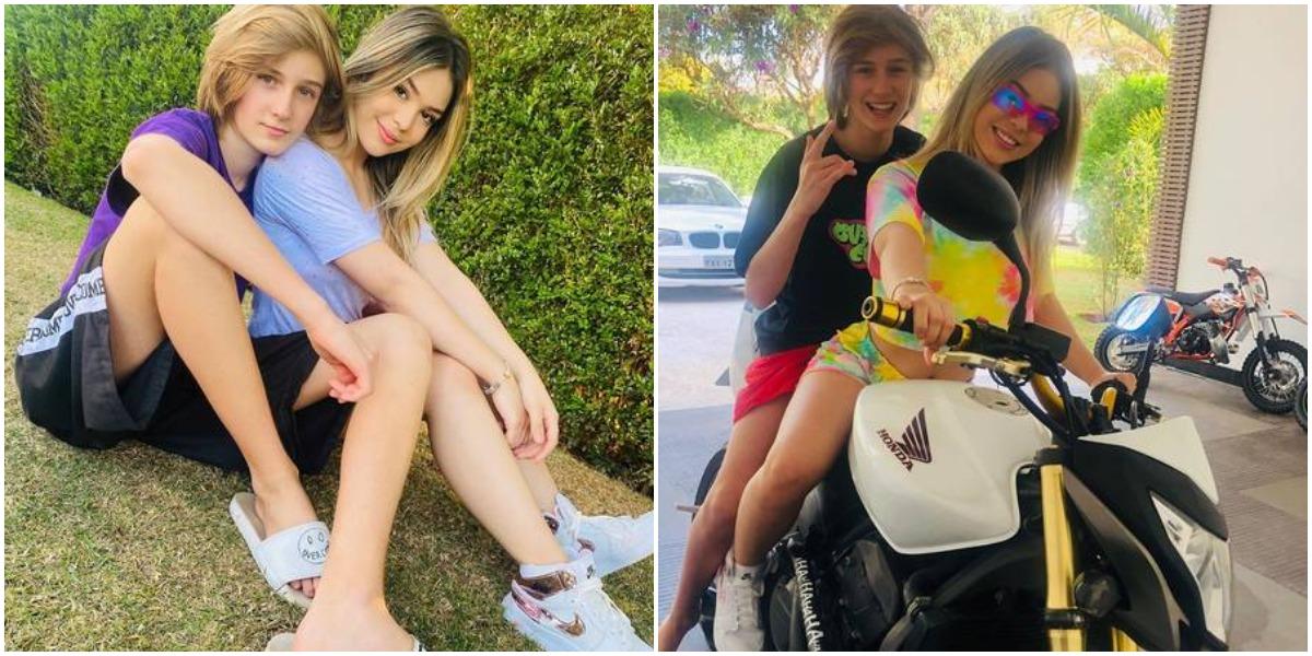 MC Melody e Felipe Leal não estão namorando, afirmou a mãe da funkeira após polêmica (Reprodução)