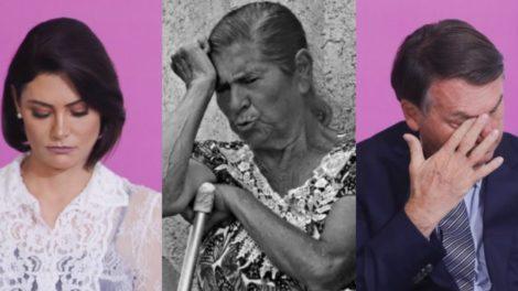 Maria Aparecida Firmo Ferreira era avó de Michelle Bolsonaro, esposa de Jair Bolsonaro (Foto: Reprodução/Cristiano Mariz/Sérgio Lima/Poder 360)