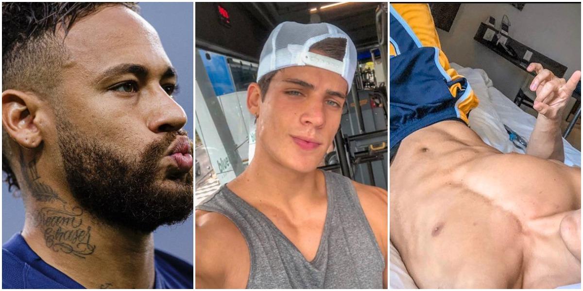 Neymar e Tiago Ramos (Reprodução)