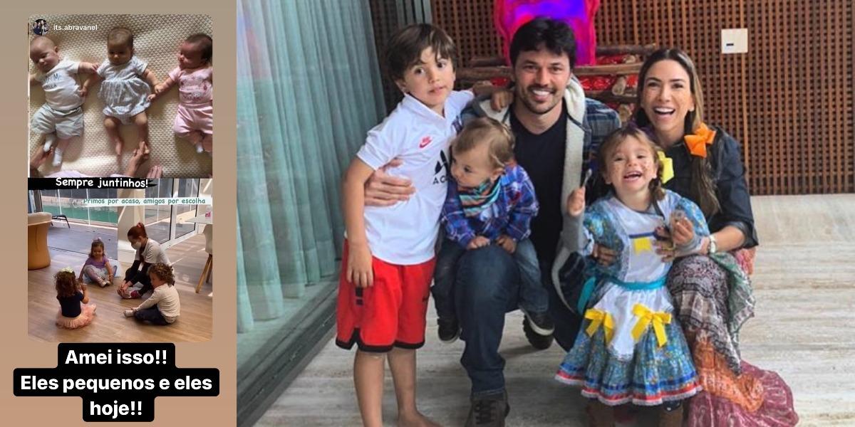 Patrícia Abravanel mostrou netos pequenos de Silvio Santos (Foto: Reprodução/Instagram)