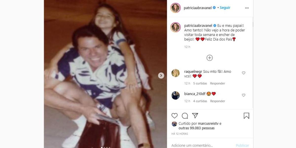 Patrícia Abravanel fez homenagem no Dia dos Pais (Foto: Reprodução/Instagram)