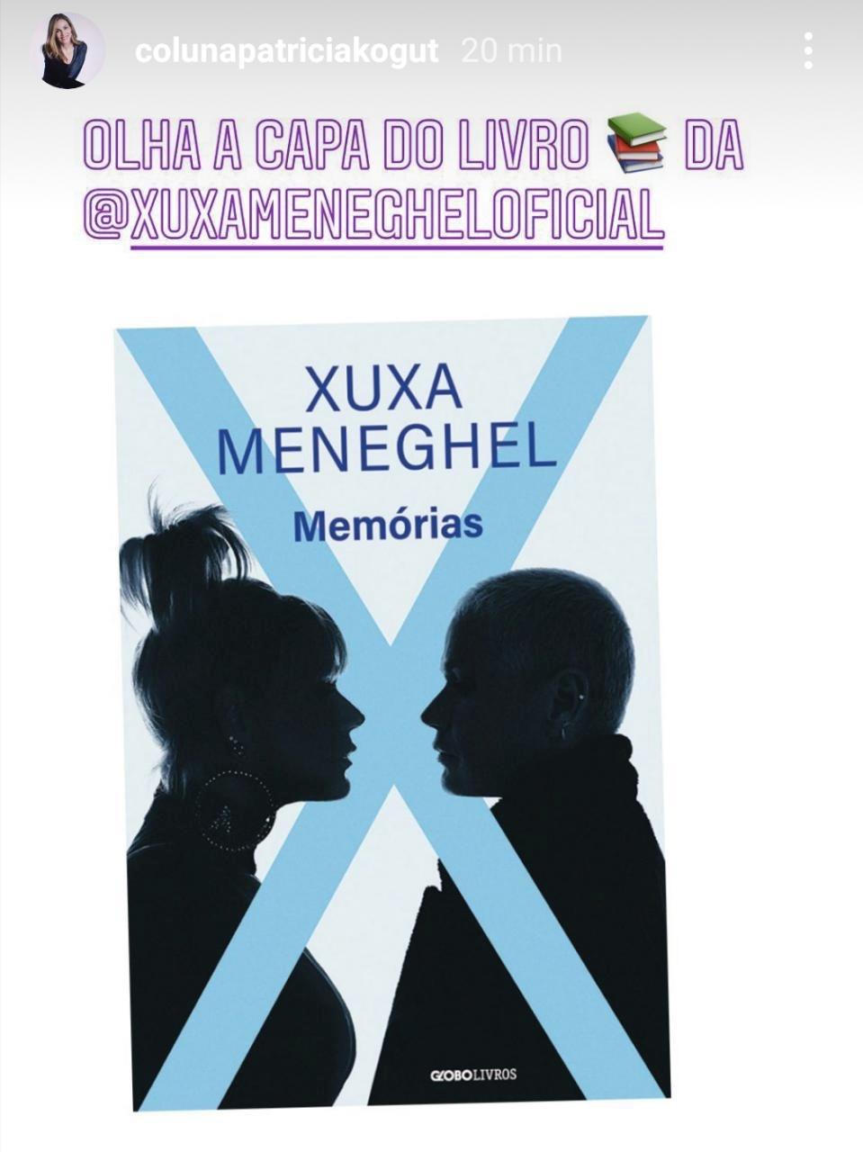 A capa oficial do novo livro de Xuxa Meneghel (Foto: reprodução/Instagram)