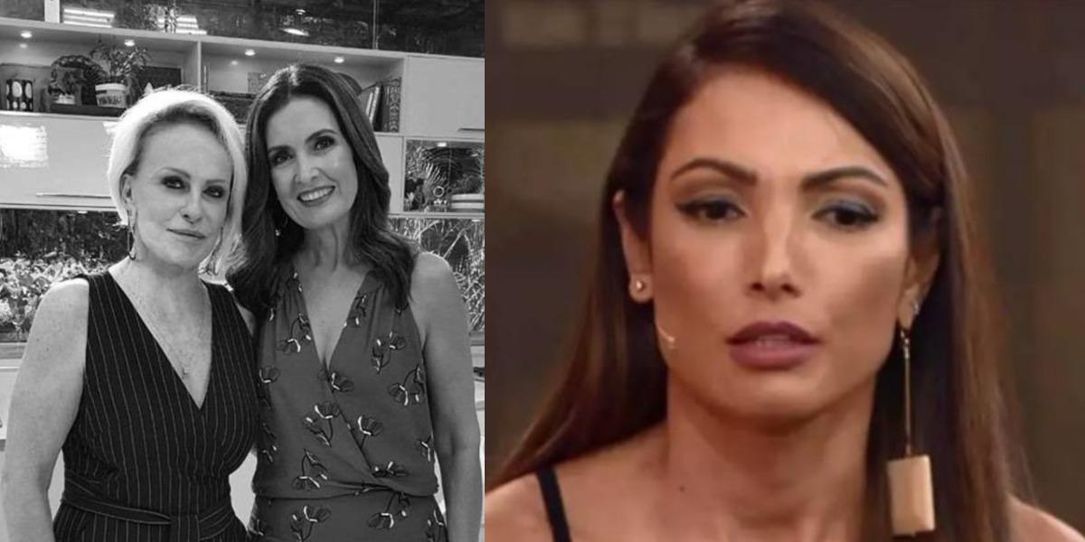 Patrícia Poeta dará um alívio à briga de Ana Maria Braga e Fátima Bernardes (Foto: Reprodução/TV Globo)