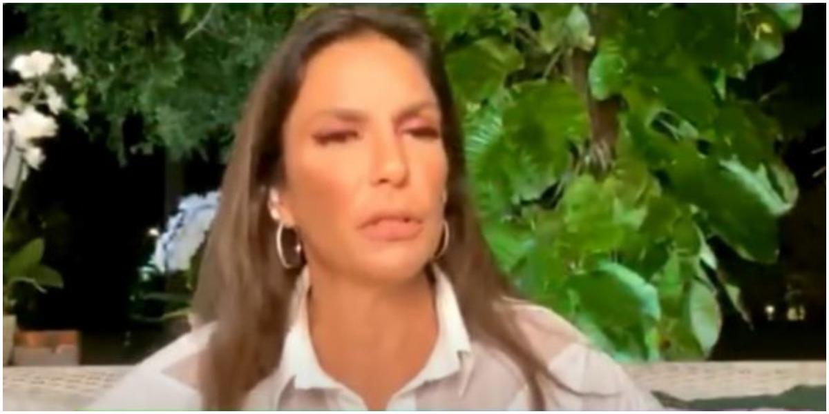 Ivete Sangalo em transmissão ao vivo (Foto: Reprodução)