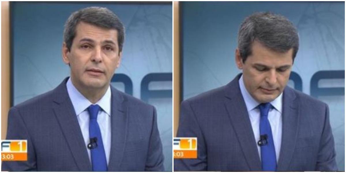 Fábio William chora na Globo (Foto: Reprodução)