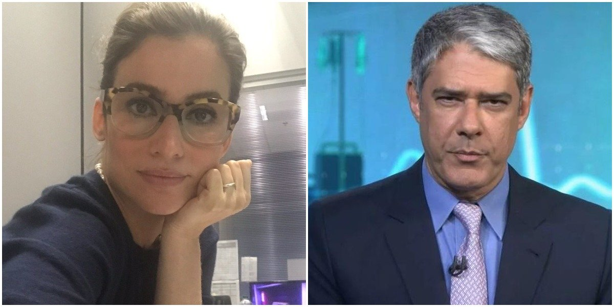 Renata Vasconcellos e William Bonner vivem momentos difíceis no Jornal Nacional (Foto: Reprodução/ Montagem/ TV Foco)