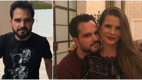 Luciano Camargo e Flávia Camargo surgiram juntos em vídeo e cantor expôs a esposa (Foto: Reprodução/ Montagem/ TV Foco)