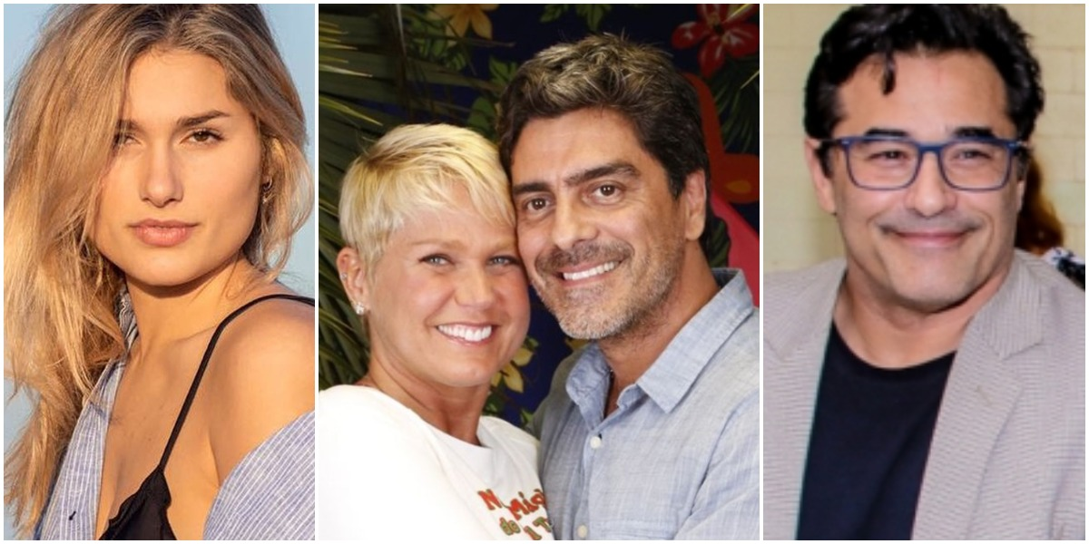 Xuxa Meneghel decidiu homenagear Junno Andrade, seu namorado, no Dia dos Pais, e massacrou Luciano Szafir (Foto: Reprodução/ Montagem/ TV Foco)