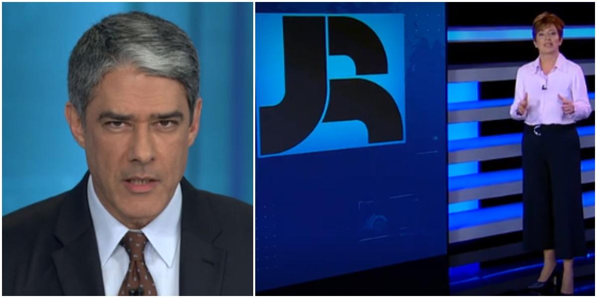 William Bonner foi mencionado por internautas após escândalo de rachadinha da Globo (Foto: Reprodução/ Montagem/ TV Foco)