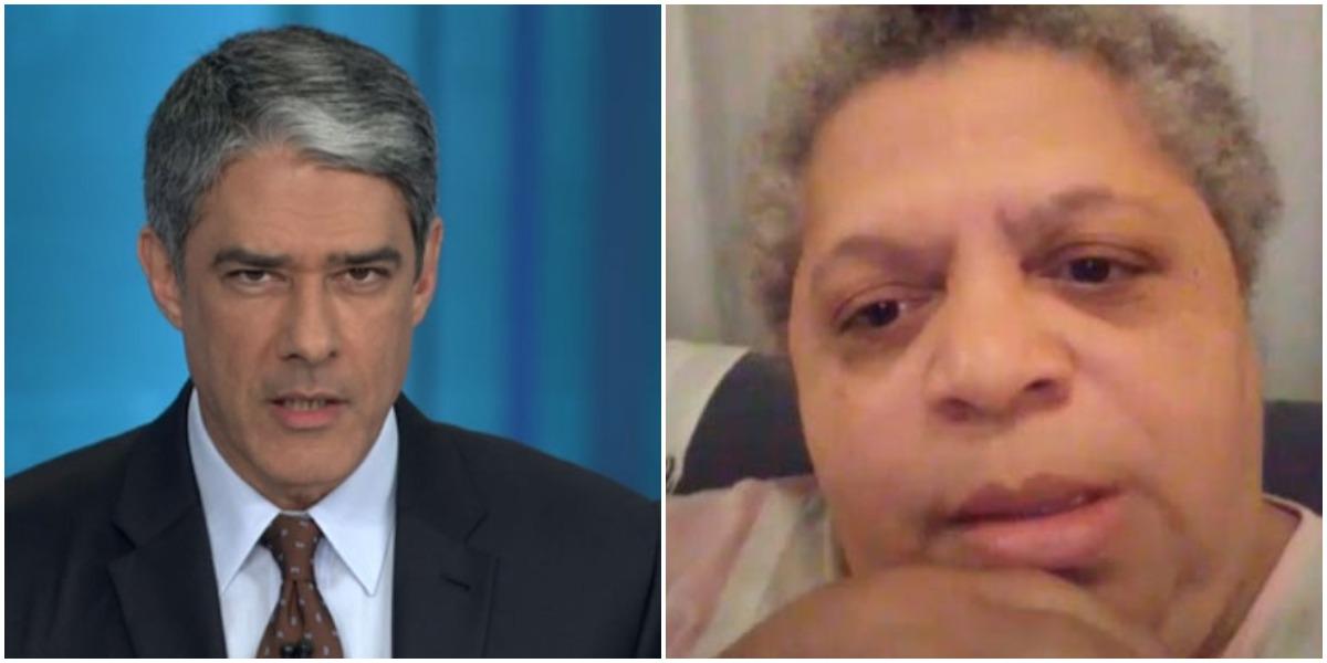 Tia Léa do Vidigal mandou recado público após expor William Bonner (Foto: Reprodução/ Montagem/ TV Foco)
