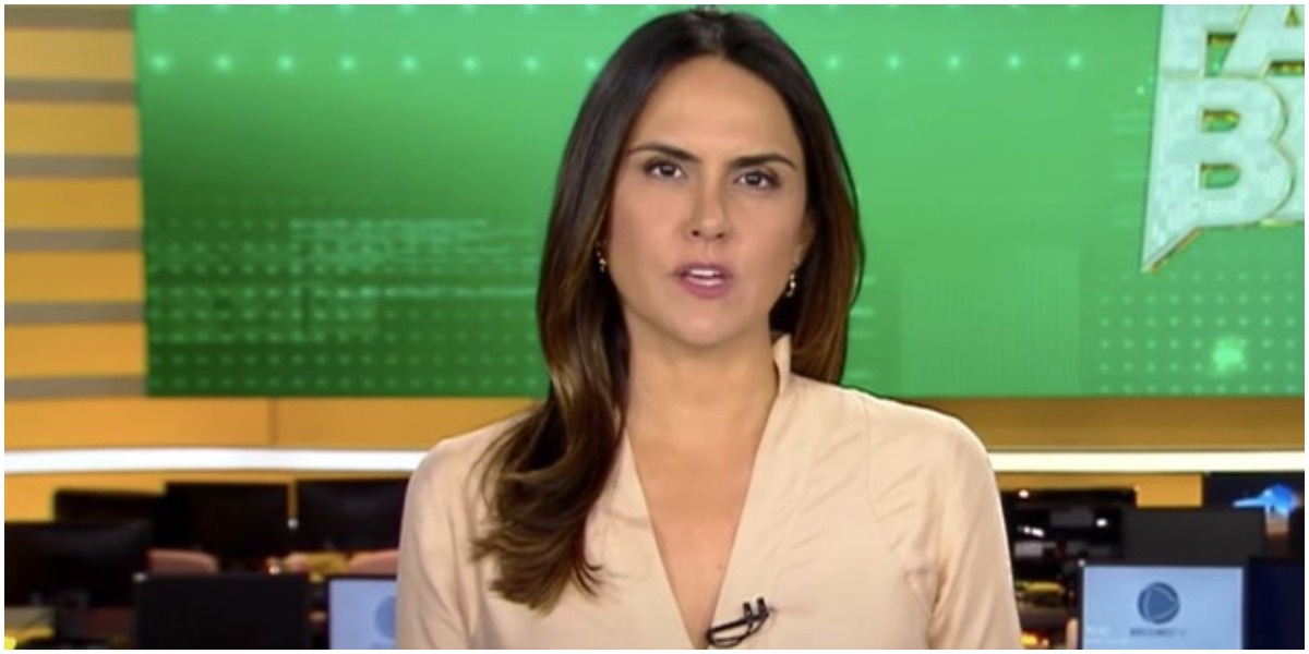 Carla Cecato soltou segredo na bancada do Fala Brasil (Foto: Reprodução)