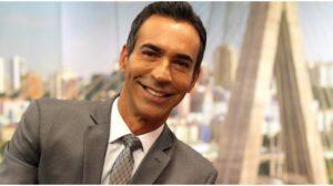 Cesar Tralli apresenta o SPTV da Globo (Foto: Reprodução)