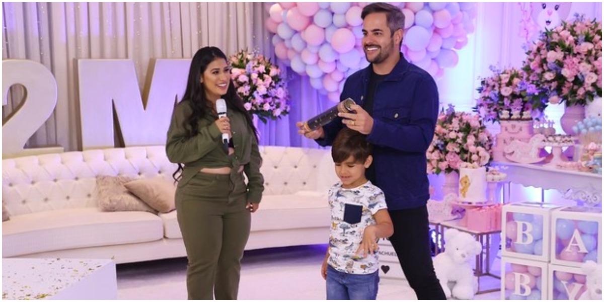 Simone e Kaká Diniz revelaram o sexo de seu segundo filho (Foto: Reprodução)