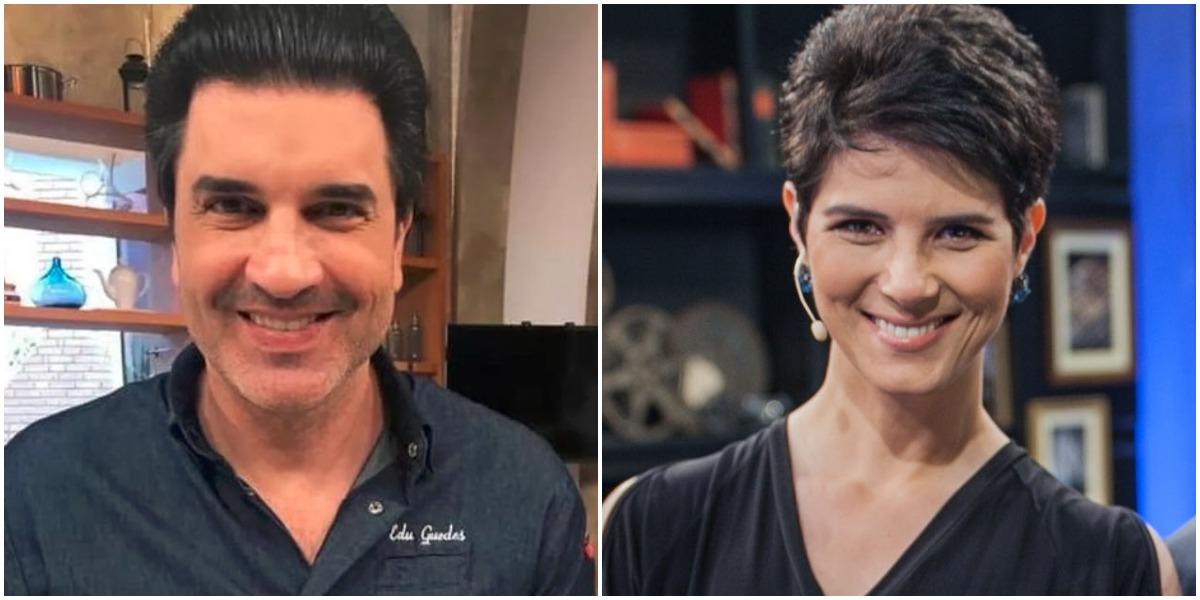 Mariana Godoy e Edu Guedes vão trabalhar juntos na Band (Foto: Reprodução)