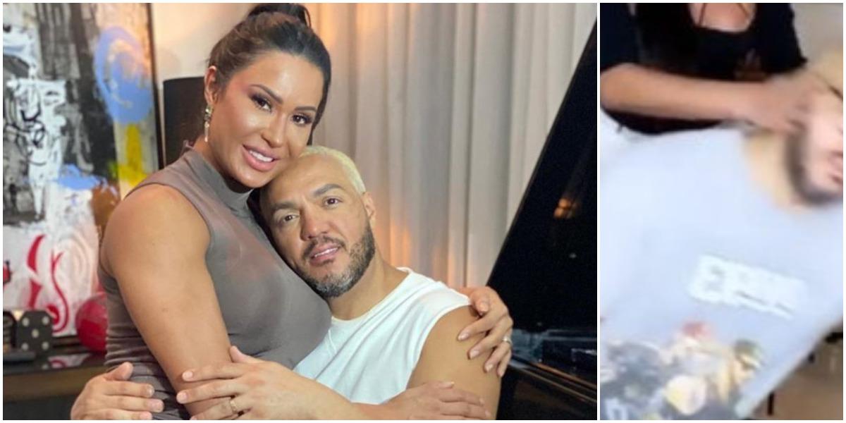 Gracyanne Barbosa e Belo são um casal (Foto: Reprodução/ Montagem/ TV Foco)