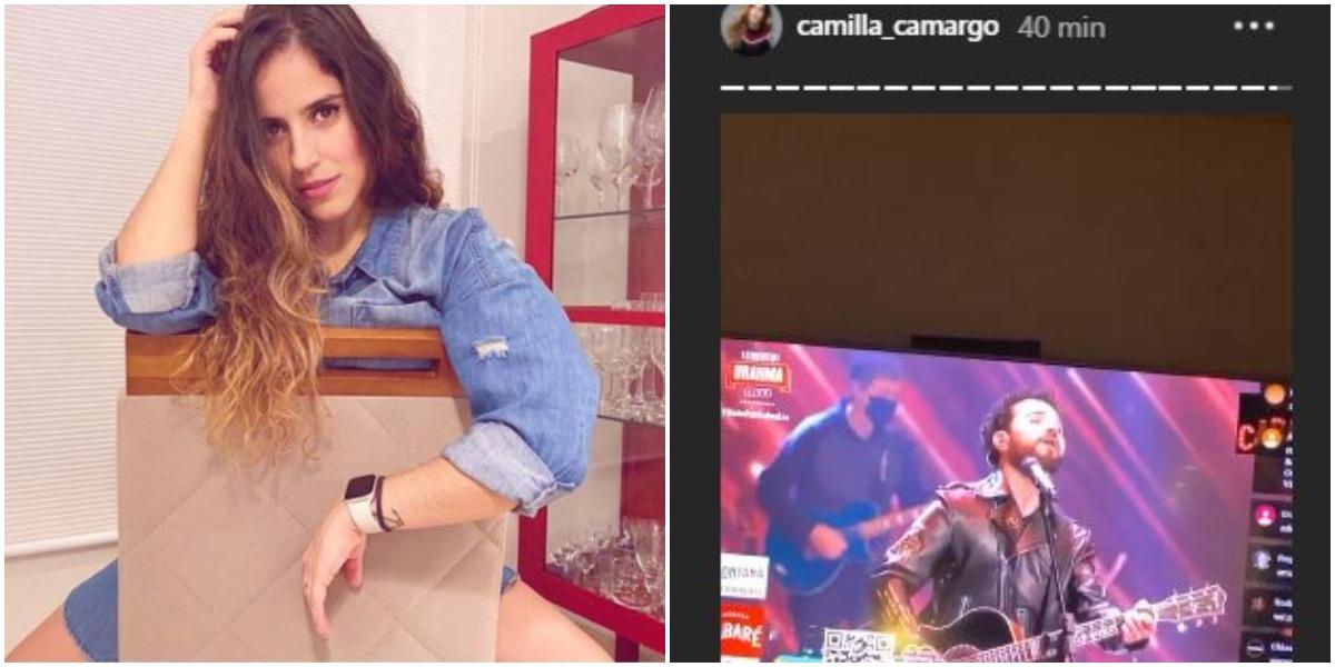 Camilla Camargo expõe live de Zezé Di Camargo e Luciano (Foto: Reprodução)