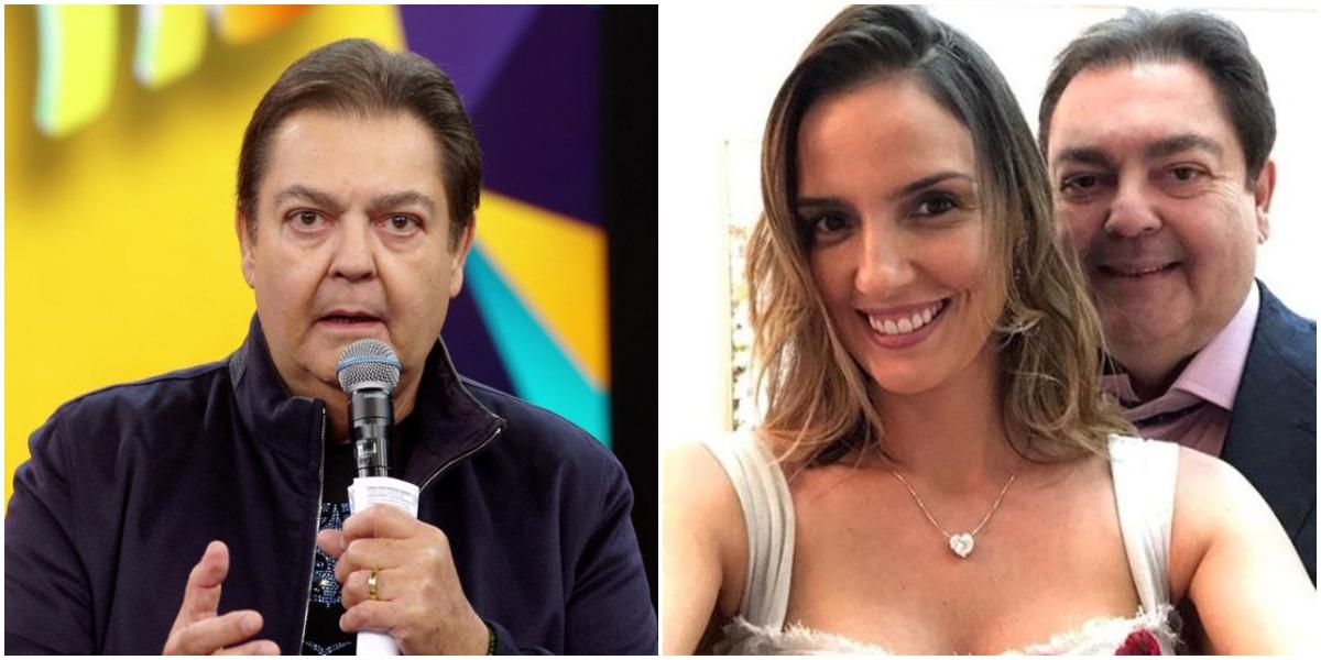 Faustão e Luciana Cardoso (Foto: Reprodução)