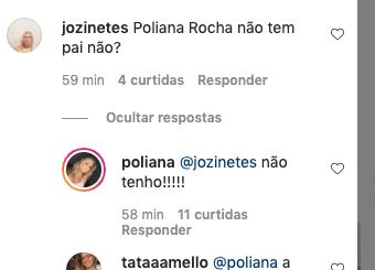 Poliana Rocha informou que não tem pai (Foto: Reprodução/ Instagram)
