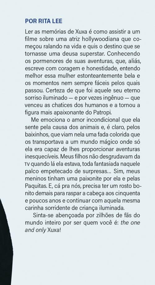 Rita Lee escreveu o prefácio do livro de Xuxa (Foto: reprodução)