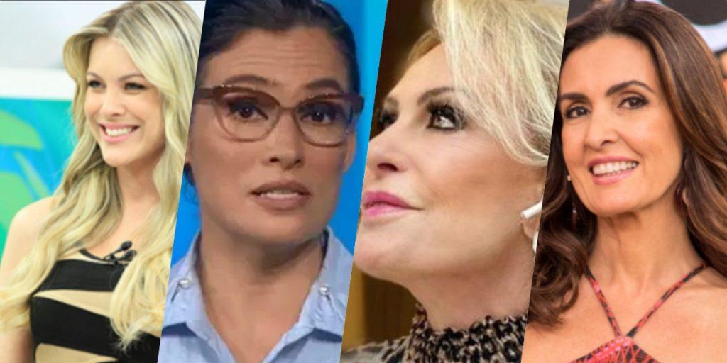 Renata Fan, Renata Vasconcellos, Fátima Bernardes e Ana Maria Braga recebem previsões (Foto montagem)