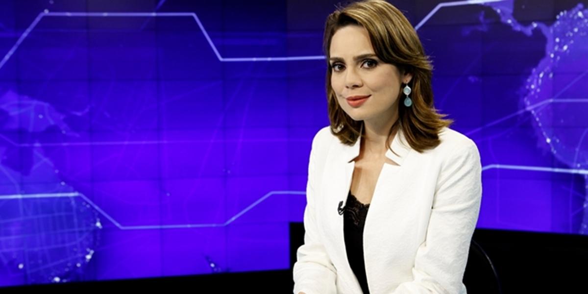 Rachel Sheherazade no comando do SBT Brasil (Foto: Lourival Ribeiro/SBT)