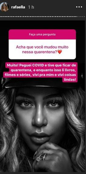 Rafaella Santos contou que foi infectada pelo Coronavírus (Foto: Reprodução/ Instagram)
