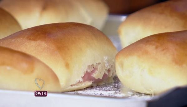 oelho de presunto e queijo foi a receita feita hoje pela Ana Maria Braga no 'Encontro'