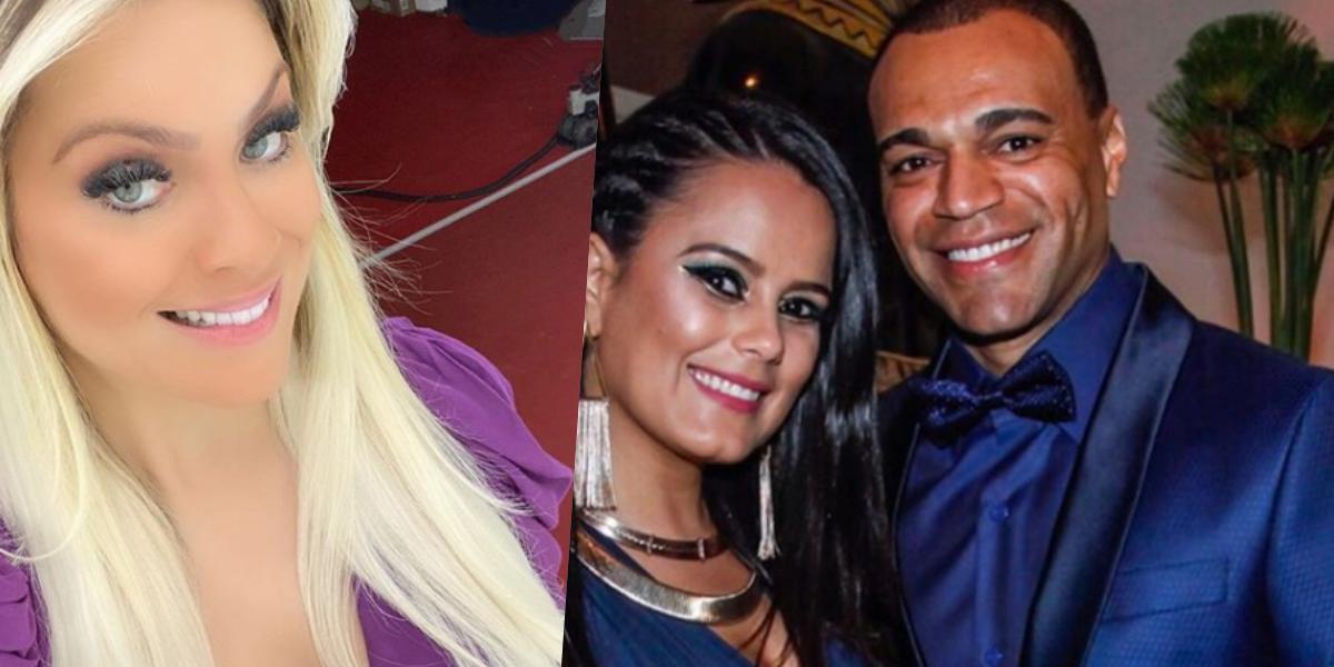 Renata Fan mantém relação de amizade com Denílson, marido de Luciele Di Camargo (Foto: Montagem/ TV Foco))