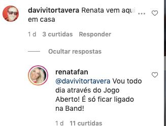 Renata Fan respondeu um seguidor (Foto: reprodução/Instagram)