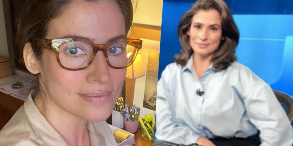 Renata Vasconcellos comanda o 'Jornal Nacional' (Foto: reprodução/Globo)