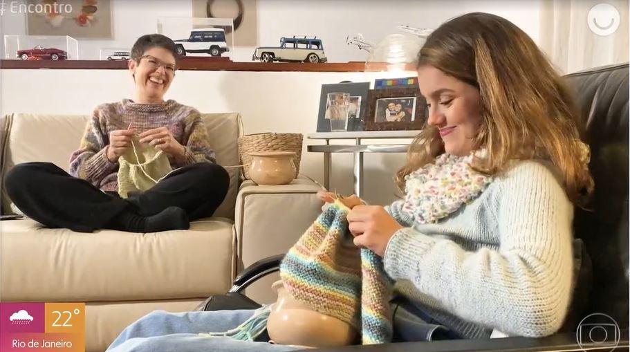 Sandra Annenberg e Elisa Paglia no Encontro Com Fátima Bernardes (Foto: Reprodução/TV Globo)