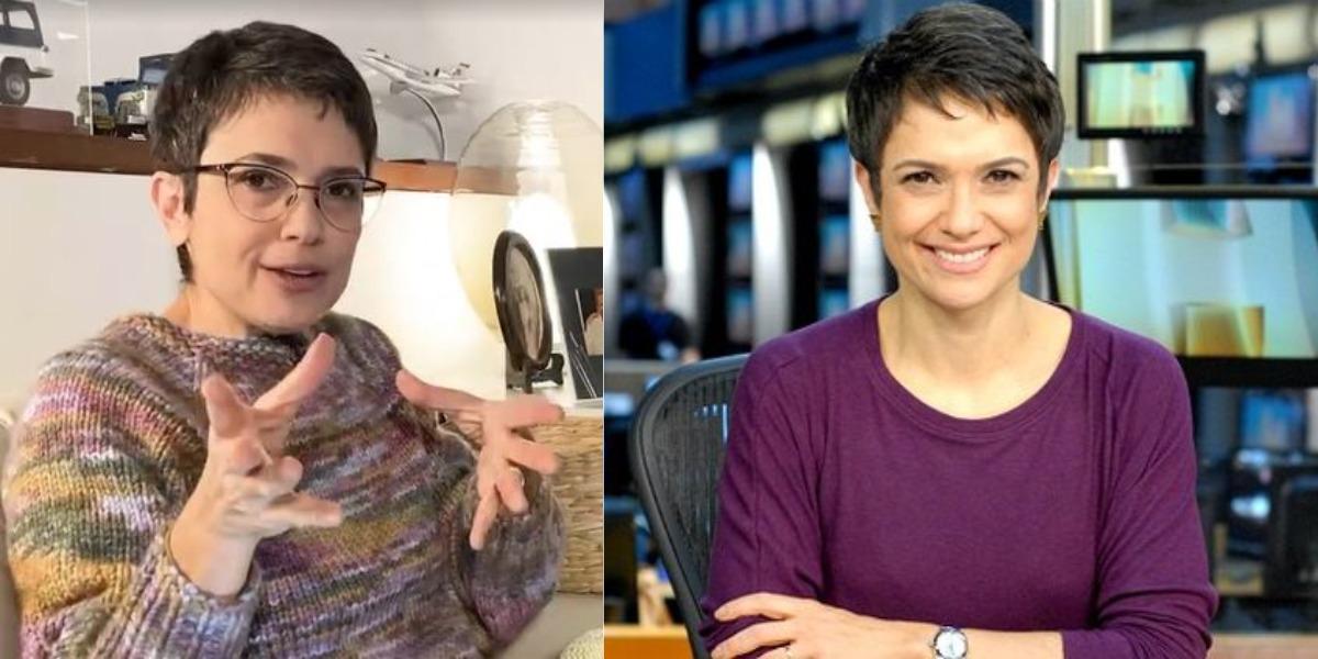 Sandra Annenberg é apaixonada por tricô (Foto: Reprodução/TV Globo)